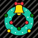 christmas, decoration, ornament, winter, wreath, xmas