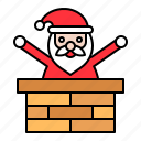 chimney, christmas, santa, santa claus, xmas
