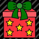 christmas, gift box, present, xmas icon