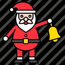 bell, christmas, santa, santa claus, xmas