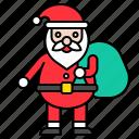 bag, christmas, gift, santa, santa claus, xmas