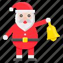 santa, bell, xmas, christmas, santa claus