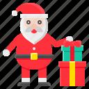 christmas, gift box, present, santa, santa claus, xmas