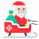 christmas, santa, santa claus, xmas, sled, sledge, sleigh icon