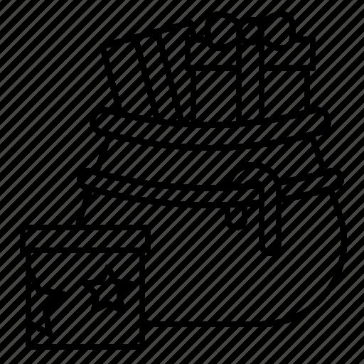 Bag, christmas, gift box, present, santa, xmas icon - Download on Iconfinder