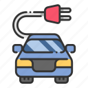 cable, car, charge, ecology, electric, energy, vehicle icon