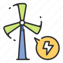 electricity, environment, power, wind, turbine, windmill, energy