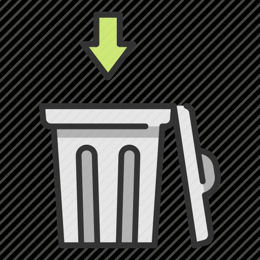 bin, ecology, environment, garbage, trash, waste icon