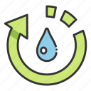 drop, ecology, environment, nature, recycle, water icon