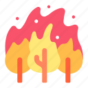 disaster, fire, flame, forest, nature, smoke, wildfire icon
