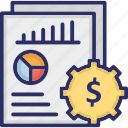 data analytics, data chart, infographic, investment chart, statistics icon