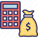 accounting, finance, investment, money calculation, money savings icon