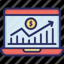 data analytics, financial chart, infographic, investment chart, statistics icon