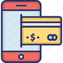 digital payment, e-commerce, mobile payment, online payment, phone payment icon