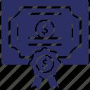 bond, cash, dollar, finance, v banknote icon