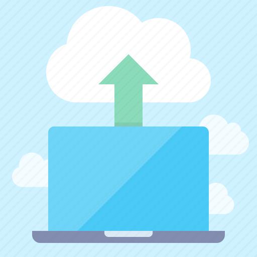 Cloud, laptop, upload icon - Download on Iconfinder