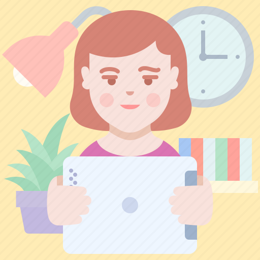 Girl, mobile, tablet icon - Download on Iconfinder