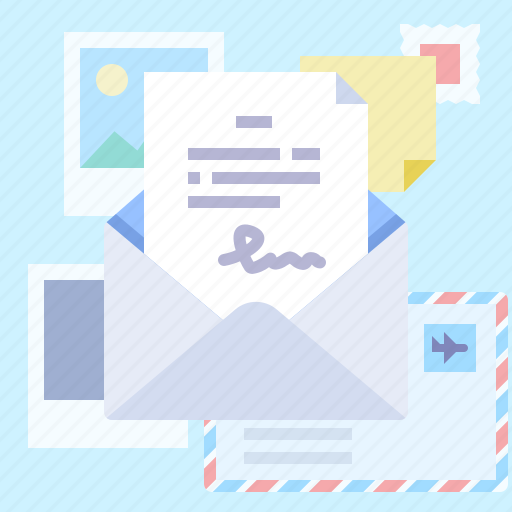 letter, message, sign icon