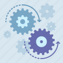 admin, gears, process icon