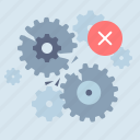 alert, error, gears, process icon