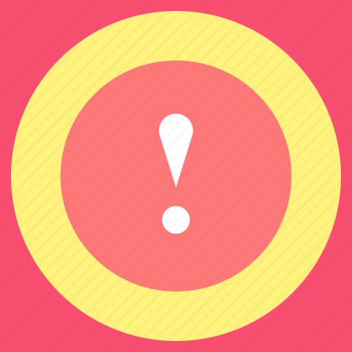 alert, error, exclamation, sign icon