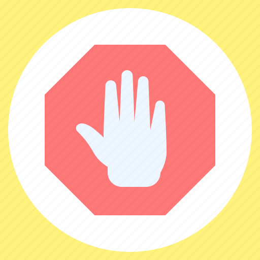 Hand, sign, stop icon - Download on Iconfinder on Iconfinder