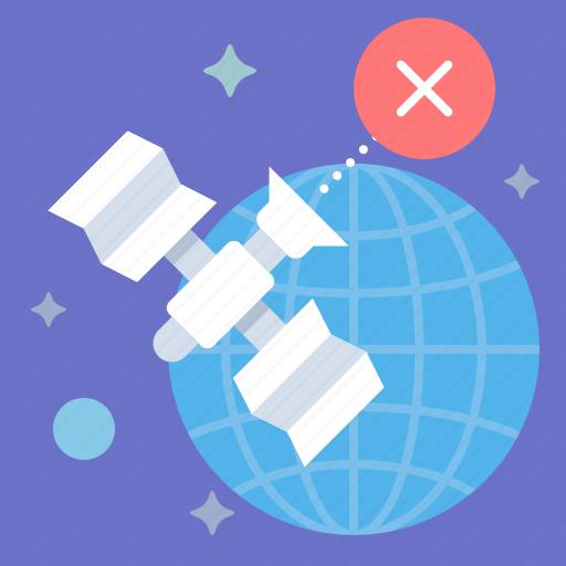 disconnect, globe, offline, satellite icon