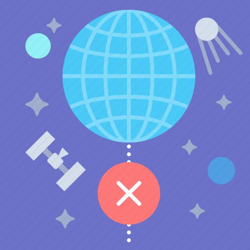disconnect, globe, internet, offline icon