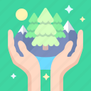 care, eco, hands, nature icon