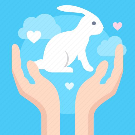 animals, friendly, hands icon