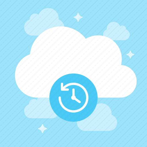 backup, cloud, machine, time icon