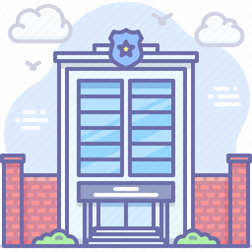 Building, department, police icon - Download on Iconfinder