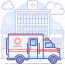 ambulance, emergency, hospital icon