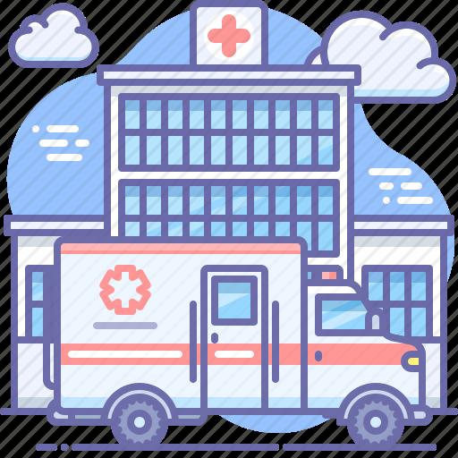 ambulance, emergency, hospital icon