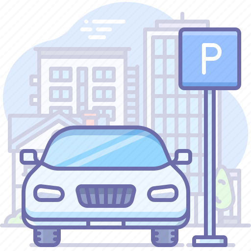 car, parking, sign icon