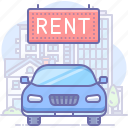 car, rent, transport icon
