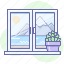 nature, view, window icon