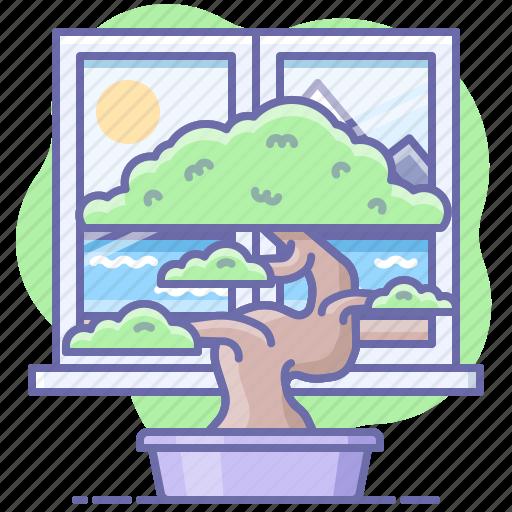 bonsai, plant, tree icon