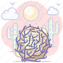 desert, not found, tumbleweed icon