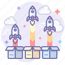 rocket, startup, products icon