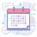 calendar, event, world icon