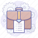 briefcase, case, job icon