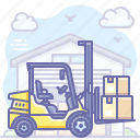 cargo, forklift, logistics, truck icon