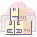 boxes, delivery, storage, warehouse icon
