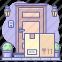 box, delivery, door icon