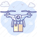 product, box, delivery, drone icon