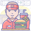 burger, fast food, restaurant icon