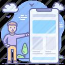 mobile, mockup, smartphone, ui icon