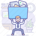 files, folder, office, work icon