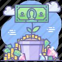 growth, money, plant, pot